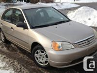 2001 Honda Civic DX, 4 Door Automatic, Warm Heater,