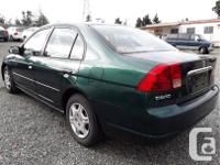Make Honda Model Civic Year 2001 Colour green kms, used for sale  British Columbia