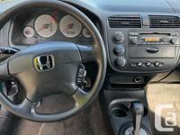 2001 Honda Civic LX -1.7L 4 cylinder -4 speed
