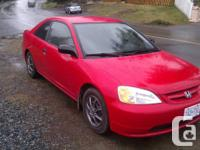 2001 Honda Civic with the following work done in the
