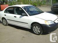 2001 Honda Civic Sedan    - 4 Door Sedan, 4 Cyl. 1.7