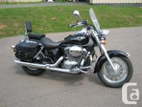 2001 Honda Shadow Ace 750 Deluxe. Uncluttered bike with
