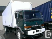 Selling a 2001 mitsubishi fuso, 6spd,with a 26ft high
