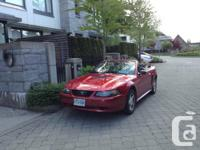 *NEW PRICE* 2001 Red Mustang convertible Automatic, V6,