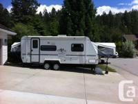 This 2001 Rockwood Roo trailer is 21ft. (24 ft. from