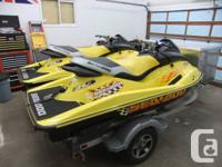 For sale by second owner, a pair of RARE 2001 RXX