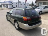 Make Subaru Model Outback Year 2001 Colour GREEN kms