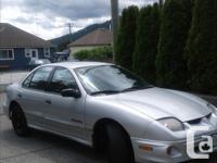 Make Pontiac Year 2001 Colour Silver kms 152000 2001