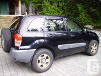 2001 Toyota RAV4 all wheel drive 2.0 litre 4 cyndrical