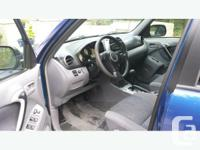 Make Toyota Colour blue Trans Automatic kms 303000 2001