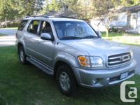 Make Toyota Model Sequoia Year 2001 Colour Silver kms