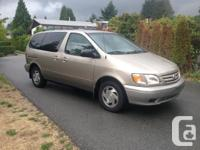 Make Toyota Model Sienna Year 2001 Colour BROWN kms