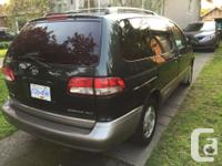 Make Toyota Model Sienna Year 2001 Colour Green kms