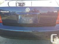 Make Volkswagen Model Passat Year 2001 Colour BLUE kms