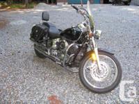 2001 Yamaha V-Star 650. Shaft Drive, Crash Bars,