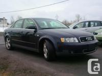 Make Audi Model A4 Year 2002 Colour BLUE kms 232000