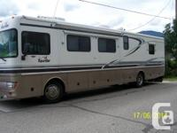 This 39' diesel pusher with 2 slides has 65000 miles on