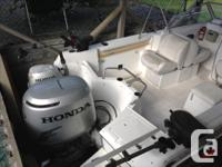 Good condition, Honda 130hp (approx 550 hours) recently