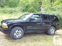 Make Chevrolet Model Blazer Year 2002 Colour Black kms