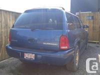 Make Dodge Model Durango Year 2002 Colour Blue kms