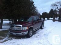 Dodge ram 1500, 2002. V8 4.7 lt. Work good, 217000km.