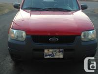 Make Ford Model Escape Year 2002 Colour Red kms 170000