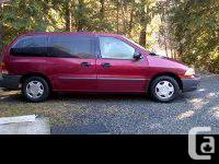 Make. Ford. Design. Windstar. Year. 2002. Colour. red.