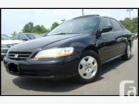 2002 Honda Accord EX V6 Sedan - 143,000 kms - Nighthawk