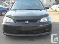 2002 HONDA CIVIC  4 DOOR 4 CYL GREAT ON GAS 269000 KMS