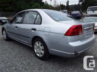 Make Honda Model Civic Year 2002 Colour grey kms for sale  British Columbia