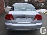 Make Honda Model Civic Year 2002 Colour Silver kms