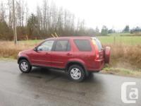 Make. Honda. Design. CR-V. Year. 2002. Colour. RED.