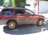2002 Jeep Grand Cherokee Laredo ,all options/Trailer