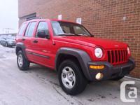 2002 Jeep Liberty Sport, 4x4, 1 owner, Auto, 153000 km,