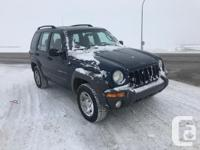 Colour BLUE Trans Manual kms 252000 2002 JEEP LIBERTY