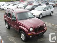 LIMITED EDITION VERY CLEAN 2002 JEEP LIBERTY, PWR