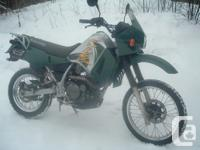 This 2002 KLR 650 is in nice condition. It comes with