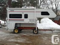 2002 lance 1030 slide in truck camper, one owner,