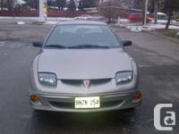 2002 Pontiac Sunfire, manual, beige, for sale. Only one