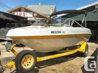 Well maintained 18 ft runabout with Volvo 3L 135 HP