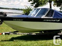 Starcraft super sport 16 feet, 60 hp four stroke, has