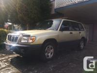 Make Subaru Year 2002 Colour Greenish Trans Manual kms