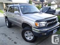 For sale:  2002 Toyota 4runner  3.4 litre, 224,000km,