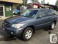 2002 Toyota Highlander V6 4WD.      Version:
