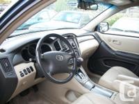 Make Toyota Model Highlander Year 2002 Colour Grey kms