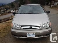 Make Toyota Model Sienna Year 2002 Colour silver kms