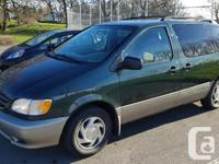 Make Toyota Model Sienna Year 2002 Colour Green kms