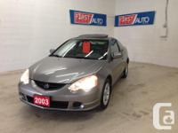 Make Acura Model RSX Year 2003 Colour Dark Grey kms