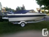 2003 Bayliner 19.5 foot Open Bow Runabout with trailer