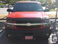Make Chevrolet Model Avalanche Year 2003 Colour Red